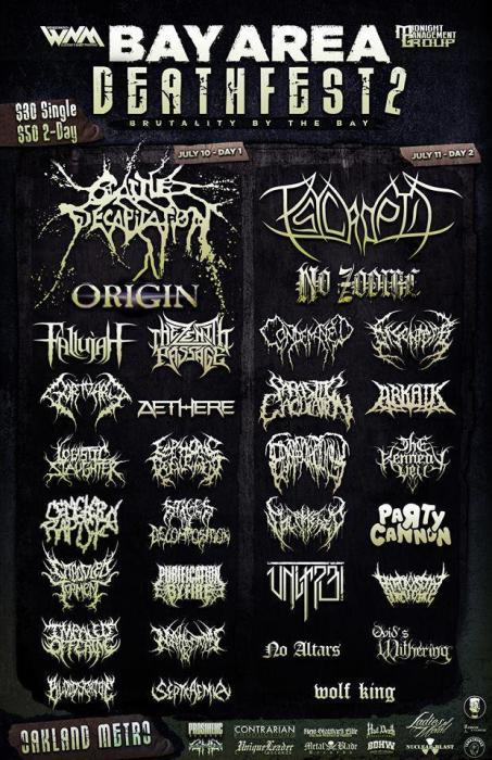 BAY AREA DEATHFEST - 2 day pass