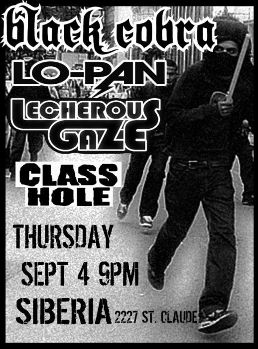 Black Cobra | Lo-Pan | Lecherous Gaze | CLASSHOLE