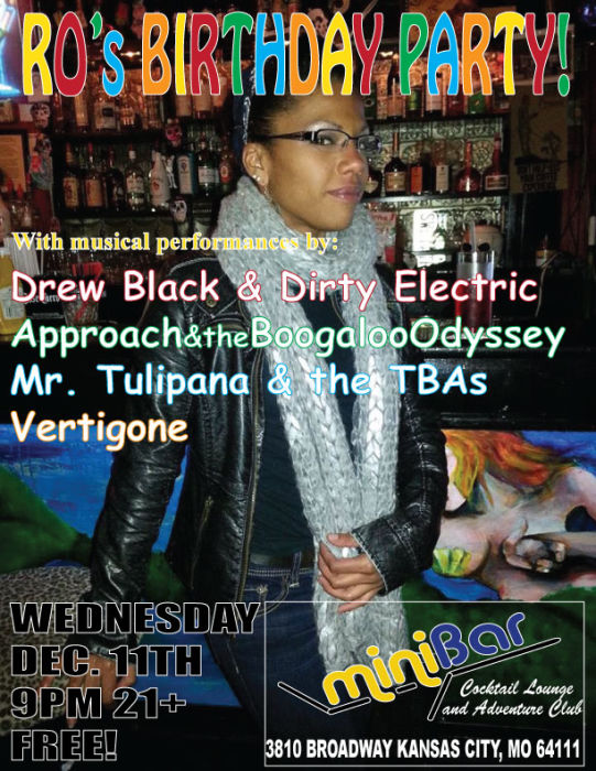 Drew Black & The Dirty Electric * Approach & Boogaloo Odyssey * Mr. T and the BAs * Vertigone - Upstairs