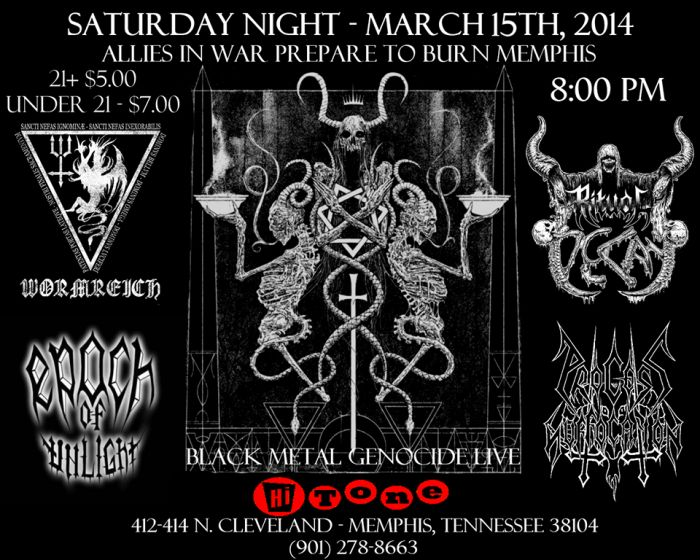 Wormreich w/ Epoch of Unlight, Ritual Decay, Process of Suffocation