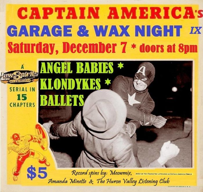Captain America Presents Garage and Wax Rock 9: The Angel Babies * The Klondykes * Ballets