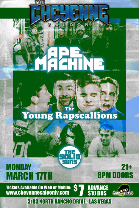 Ape Machine, The Young Rapscallions, The Solid Suns