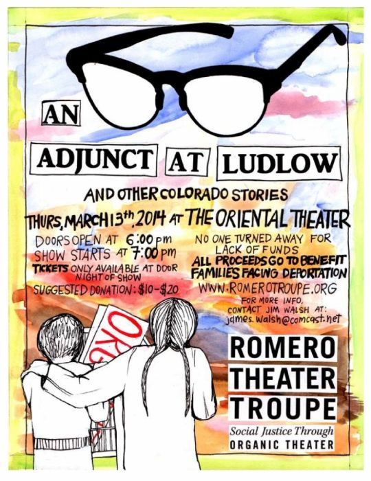 "The Romero Troupe performs ""An Adjunct at Ludlow (and other Colorado stories)"""