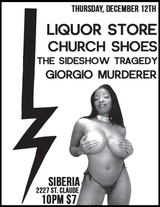 Liquor Store | Church Shoes | The Sideshow Tragedy | Giorgio Murderer