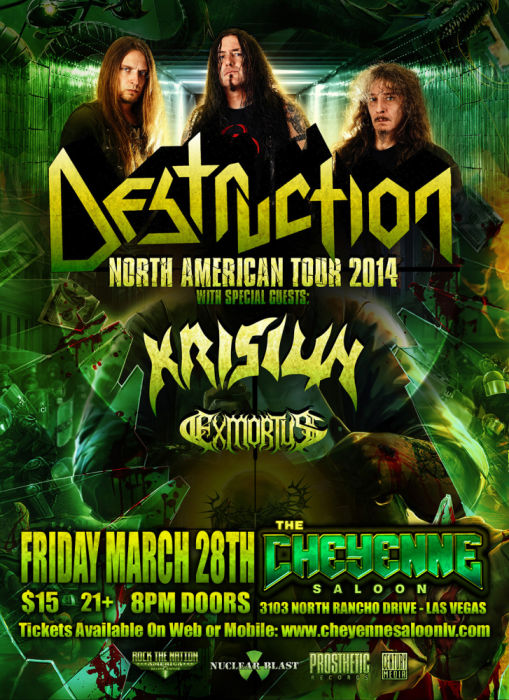 DESTRUCTION with Krisiun, Exmortus