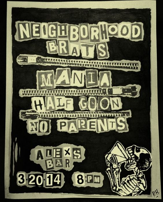 NEIGHBORHOOD BRATS, MANIA, HALF GOON, NO PARENTS