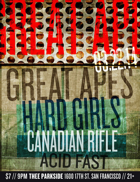 Great Apes, Hard Girls, Canadian Rifle, Acid Fast