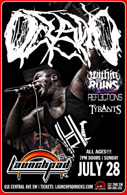Oceano * Within The Ruins * Reflections * Tyrants * Divide The Foundation