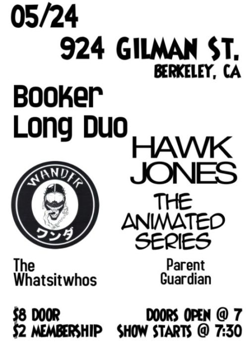 Booker Long Duo, Hawk Jones, Wander, The Animated Series, The Whatsitwhos, Parent Guardian
