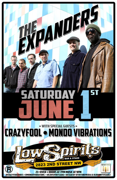 Crazyfool * The Expanders * Mondo Vibrations
