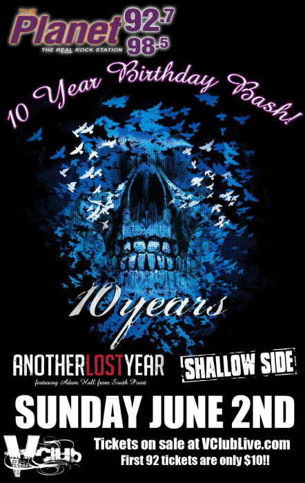 92.7 The Planet Presents- 10 Years / Shallow Side / Another Lost Year