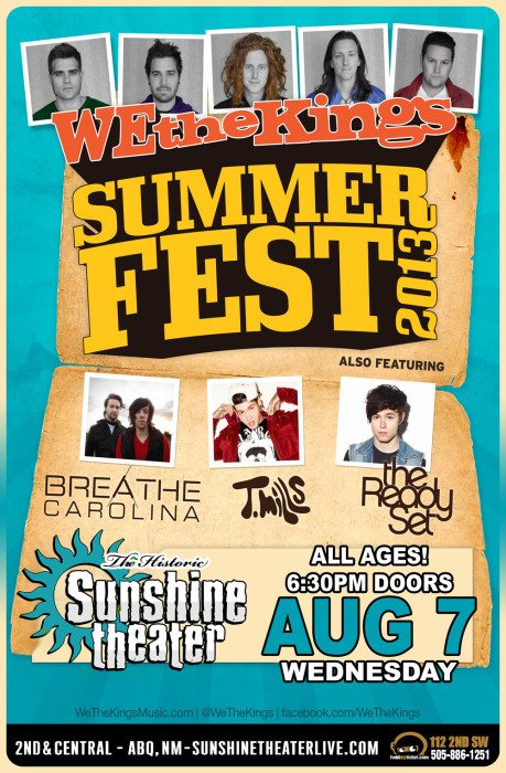 We The Kings * Breathe Carolina * T. Mills * The Ready Set