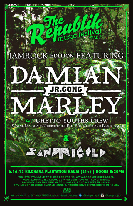 Damian Marley with Santigold, Ghetto Youth Crew on Kauai