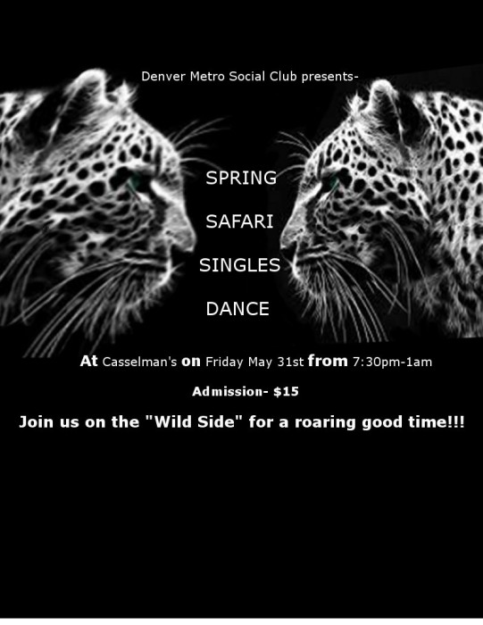 SPRING SAFARI SINGLES DANCE