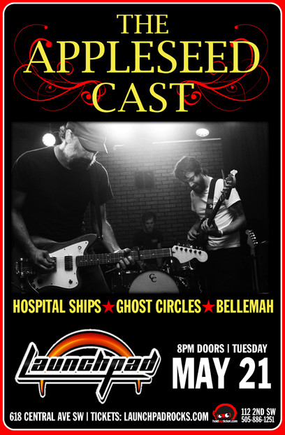 The Appleseed Cast * Hospital Ships * Ghost Circles * Bellemah