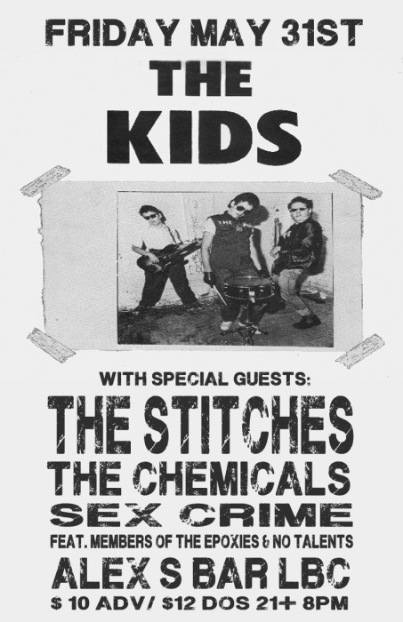 THE KIDS, THE STITCHES, THE CHEMICALS, SEX CRIME (FEAT. MEMBER OF NO TALENTS & THE EPOXIES)