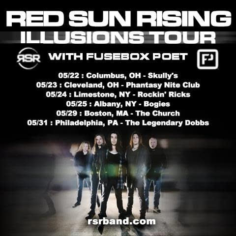 RED SUN RISING Illusions Tour  w/  FUSEBOX POET / DRENALIN / ODDS AGAINST TOMORROW