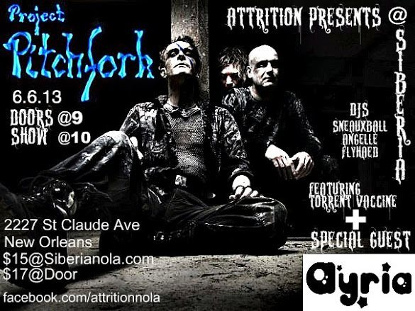 Attrition presents: Project Pitchfork | Ayria | DJ