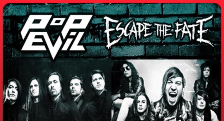 Pop Evil * Escape The Fate * Avatar * Glamour of the Kill